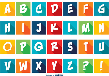 Colorful Comic Style Alphabet Set - vector #362755 gratis
