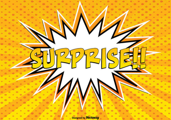 Comic Style Surprise llustration - vector gratuit #362765
