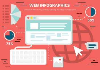 Free Flat Web Infographics Background - vector gratuit #362775