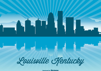 Louisville Kentucky Skyline Illustration - Free vector #362785