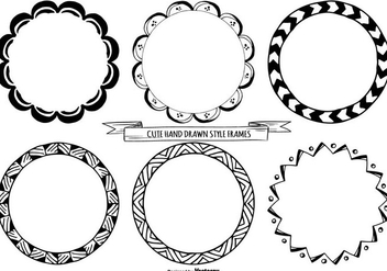 Cute Hand Drawn Style Frames - vector #362865 gratis