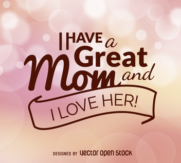Mother's Day quote vector - vector gratuit #362985