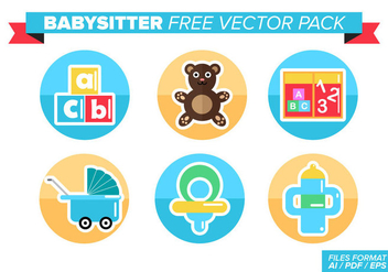 Babysitter Free Vector Pack - Free vector #363105