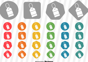 Vector Price Tag Icon - vector #363155 gratis