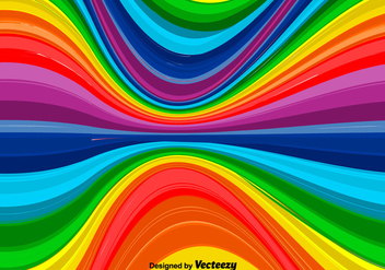 Vector Wavy Rainbow Background - vector gratuit #363175
