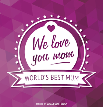 World's best mum emblem - vector #363265 gratis