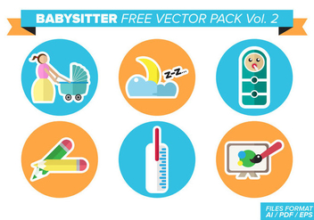 Babysitter Free Vector Pack Vol. 2 - vector gratuit #363295