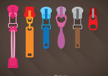 Colorful Zipper Pull Vector - Free vector #363305