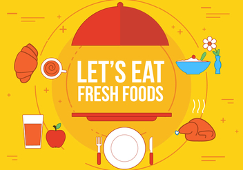 Free Fresh Food Vector - vector gratuit #363315