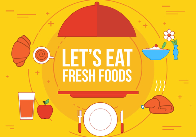Free Fresh Food Vector - бесплатный vector #363315
