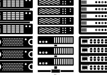Vector server rack icons - vector gratuit #363335