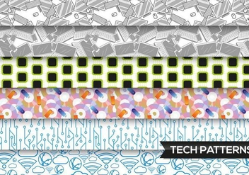 Technology Patterns Vector Free - vector gratuit #363545