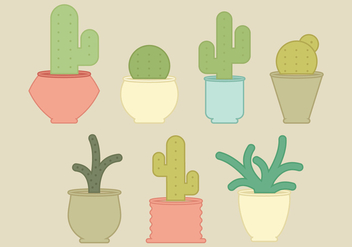 Vector Cacti Collection - Free vector #363555