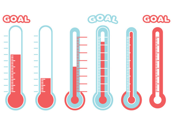 Goal Thermometer Vector - Free vector #363575