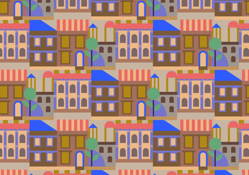 City Buildings Pattern - Free vector #363595