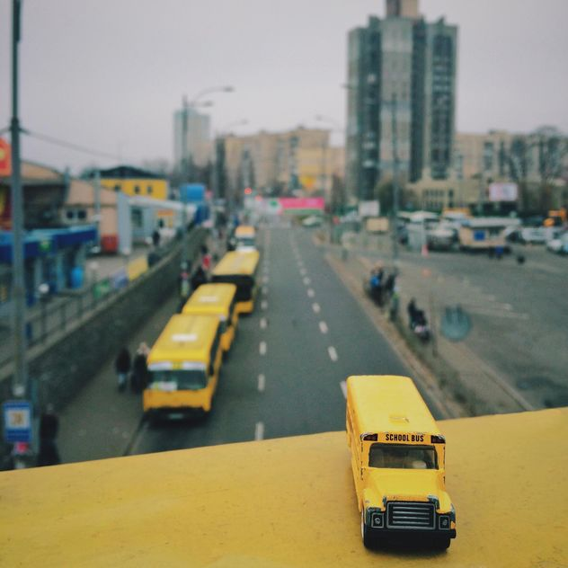 Miniature school bus - бесплатный image #363665