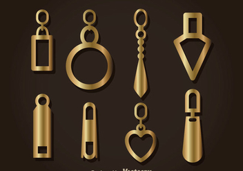 Gold Zipper Pull Headers Vector - Free vector #363735