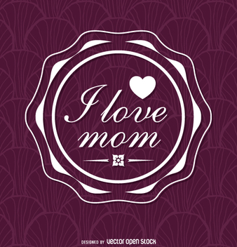 Purple Mother's Day insignia - vector gratuit #363755