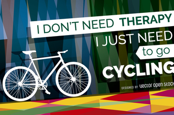 Bicycle poster with message - Free vector #363775