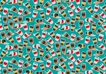 Coffee Sleeve Pattern Vector Free - vector gratuit #363835