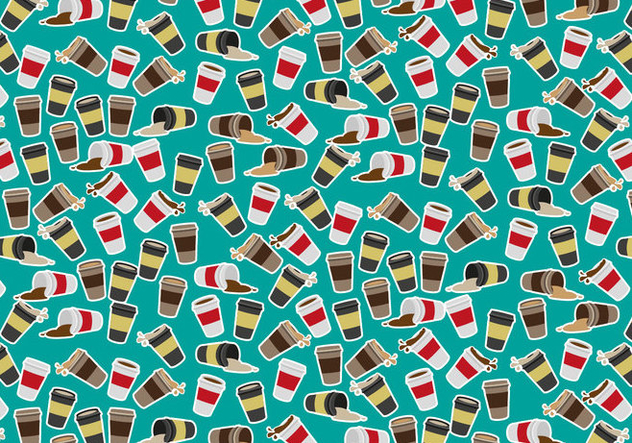 Coffee Sleeve Pattern Vector Free - vector #363835 gratis