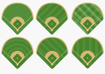 Types of Baseball Diamond Vectors - Free vector #363905