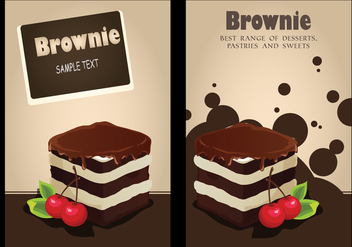 Brownie Invitation Background vector - vector gratuit #363915