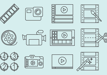Video Editing Icons - Free vector #364035
