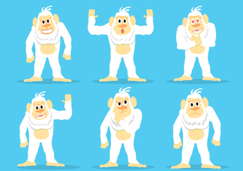 Yeti Icon Vector Set - vector gratuit #364145