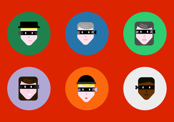 Free Robber Faces Vectors - Free vector #364175