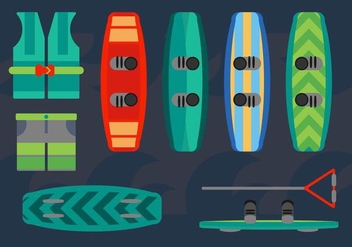 Free Wakeboard Design Vectors - бесплатный vector #364195