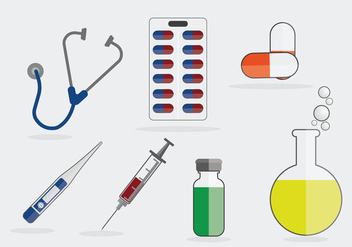 Medical Symbols Illustration Vector - Free vector #364255