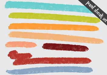 Paint Streak Colorful Fun Set - Free vector #364265