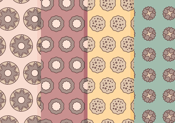 Vector Sweets Patterns - vector gratuit #364295