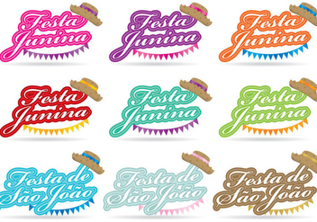 Junina Titles - vector gratuit #364325