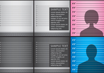 Mugshot Backgrounds - vector gratuit #364365