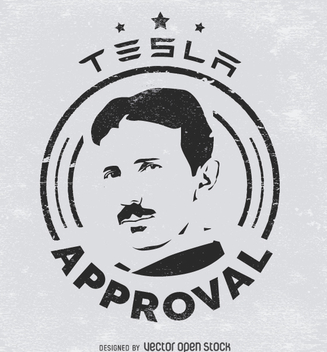 Tesla approval sticker - Free vector #364455