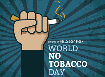 Fist with cigarette poster - Free vector #364475
