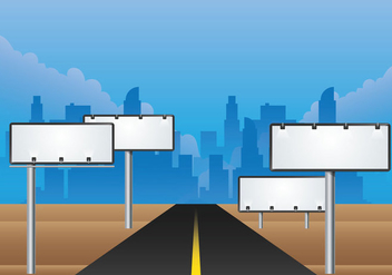 Hoarding Billboard Vector Road - Kostenloses vector #364605