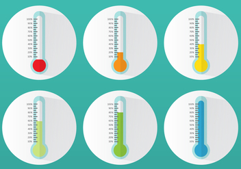 Flat Goal Thermometer - Free vector #364615