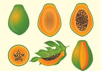 Papaya Fruit Vectro - Kostenloses vector #364695