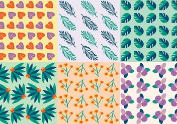 Free Tropical Leaves Vector Patterns - vector gratuit #364745
