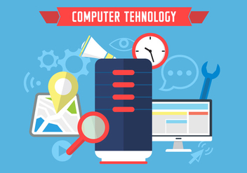 Computer Tehnology Icons - vector #364795 gratis