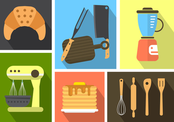 Free Kitchen Icons - vector #364805 gratis