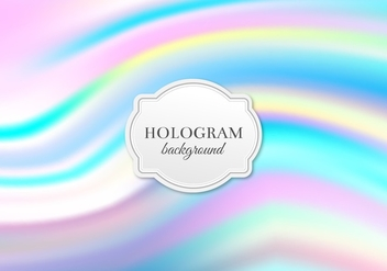 Free Vector Pastel Hologram Background - бесплатный vector #364825