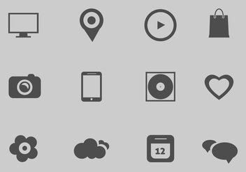 Free Vector Web Icons Set - vector gratuit #364835