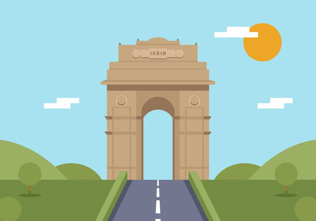 Vector India Gate - Free vector #364895