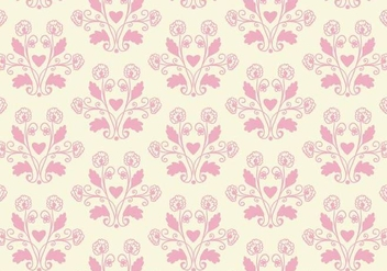 Free Vector Pink Toile Floral Background - Kostenloses vector #364905