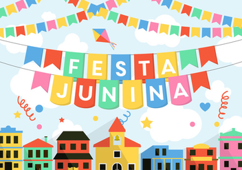 Festa Junina Vector - бесплатный vector #364915