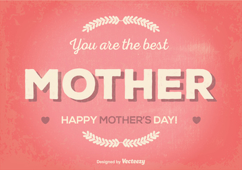 Retro Mother's Day Illustration - vector gratuit #364995